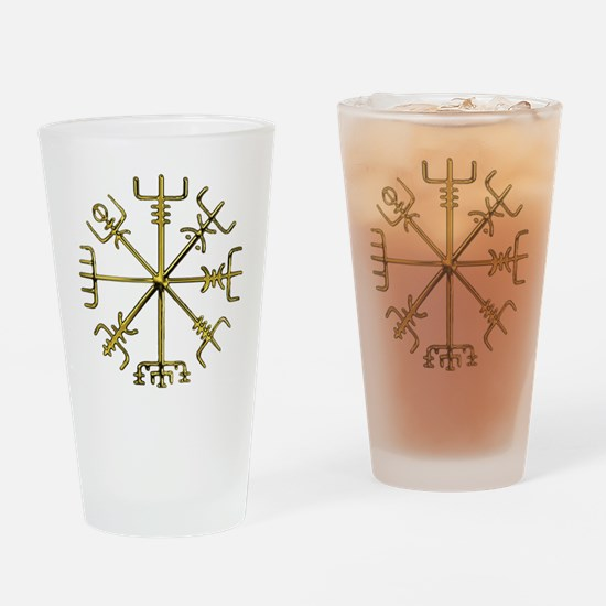 Gold Vegvisir - Viking Compass Drinking Glass