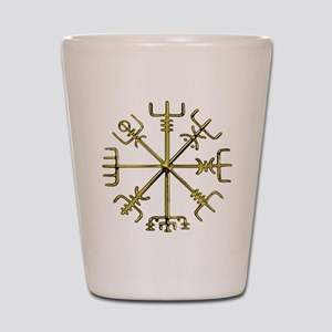 Gold Vegvisir - Viking Compass Shot Glass