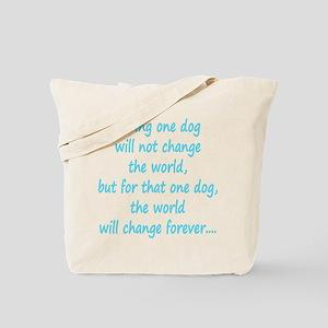 Save dog aqua Tote Bag