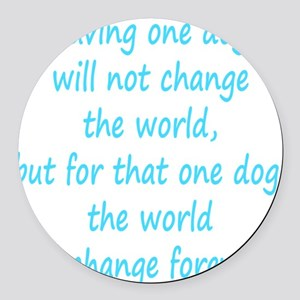 Save dog aqua Round Car Magnet