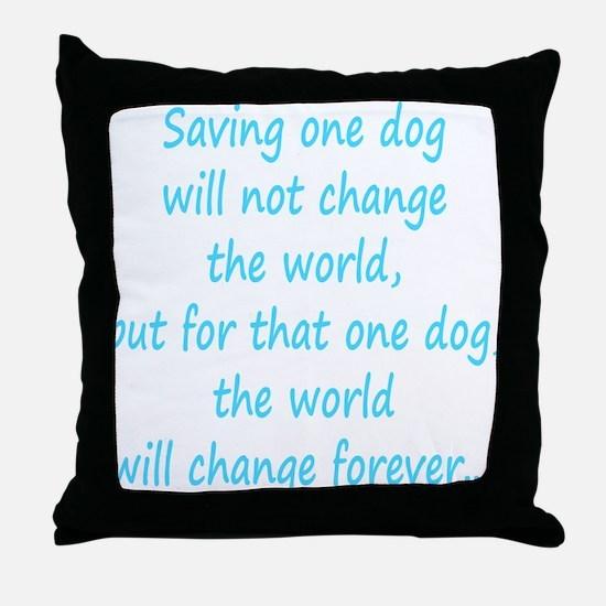 Save dog aqua Throw Pillow