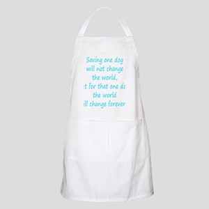 Save dog aqua Apron