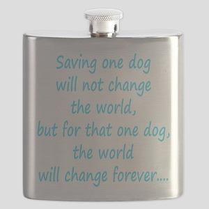 Save dog aqua Flask
