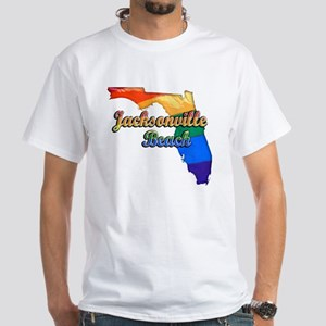 Jacksonville Beach White T-Shirt