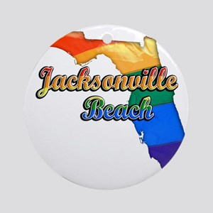 Jacksonville Beach Round Ornament