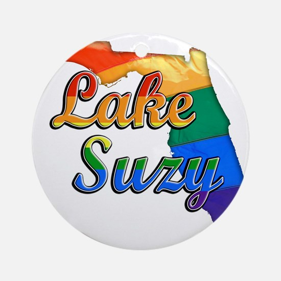 Lake Suzy Round Ornament