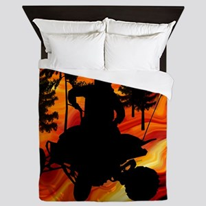 ATV on Road From Hell King Duvet Queen Duvet