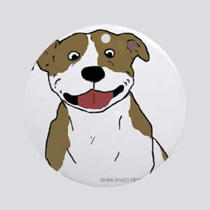 Pit Smile Tan 4x4 Round Ornament