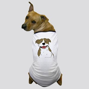 Pit Smile Tan 4x4 Dog T-Shirt