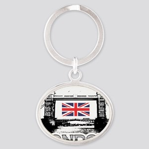 Tower Bridge Oval Keychain