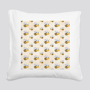 bee22 Square Canvas Pillow