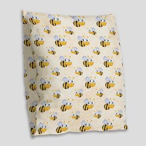bee22 Burlap Throw Pillow