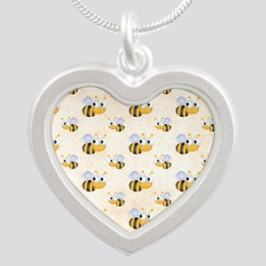 bee22 Silver Heart Necklace