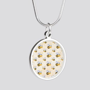 bee22 Silver Round Necklace