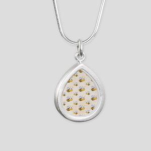 bee22 Silver Teardrop Necklace