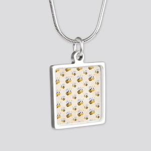 bee22 Silver Square Necklace