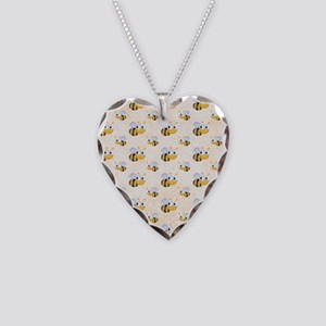 bee22 Necklace Heart Charm