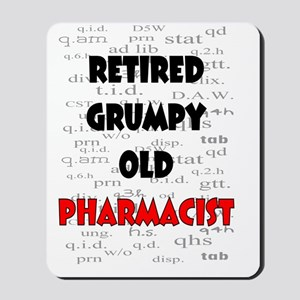 retired grumpy old pharmacist red Mousepad