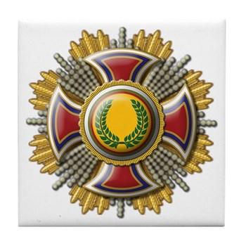 Grand Cross Laurel Tile Coaster