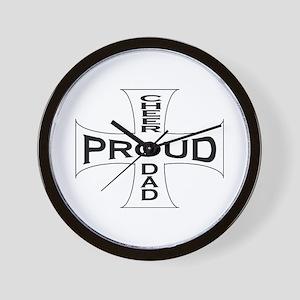 Proud Cheer Dad Wall Clock
