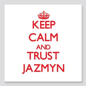 """Keep Calm and TRUST Jazmyn Square Car Magnet 3"""" x"""