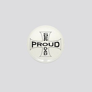 Proud Cheer Dad Mini Button