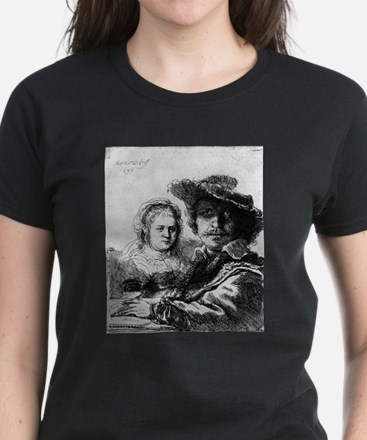 Rembrandt and his wife Saskia - Rembrandt - 1636 T