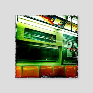 "Staten Island Ferry South F Square Sticker 3"" x 3"""