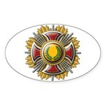 Grand Cross Laurel Oval Sticker