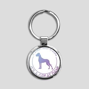 Not just a dog Round Keychain