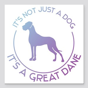 "Not just a dog Square Car Magnet 3"" x 3"""