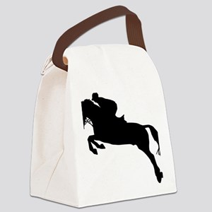 horse_showjumping Canvas Lunch Bag
