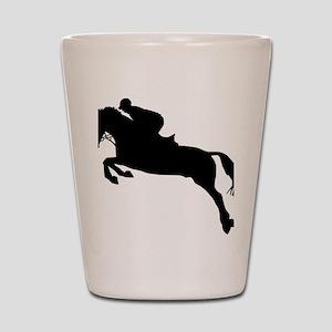 horse_showjumping Shot Glass