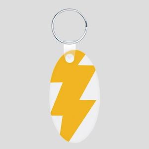 thunderbolt_full Aluminum Oval Keychain