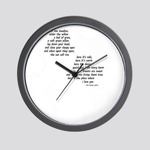 rues lullaby black and white for black  Wall Clock