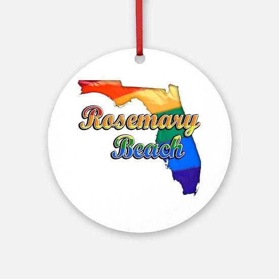 Rosemary Beach Round Ornament