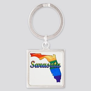 Sarasota Square Keychain