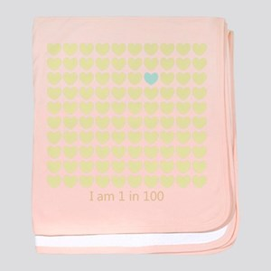 One In One Hundred Baby Blanket