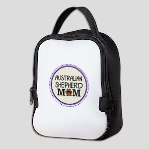 Australian Shepherd Dog Mom Neoprene Lunch Bag