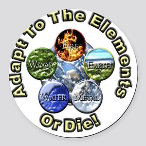 Adapt to elements gif 12x12 Round Car Magnet