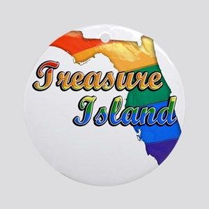 Treasure Island Round Ornament