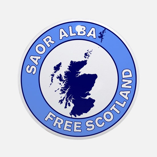 Saor Alba Free Scotland Round Ornament