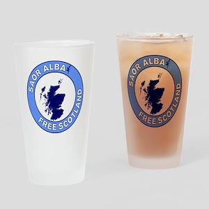 Saor Alba Free Scotland Drinking Glass