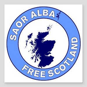 """Saor Alba Free Scotland Square Car Magnet 3"""" x 3"""""""