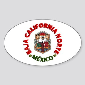 Baja California Oval Sticker