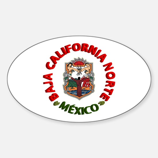 Baja California Oval Decal