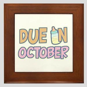 Due In October Girl Framed Tile