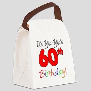 Yia-Yias 60th Birthday Canvas Lunch Bag