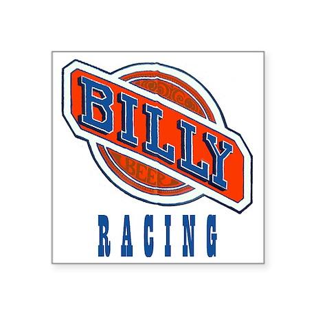 "Billy Racing Logo Square Sticker 3"" x 3"""