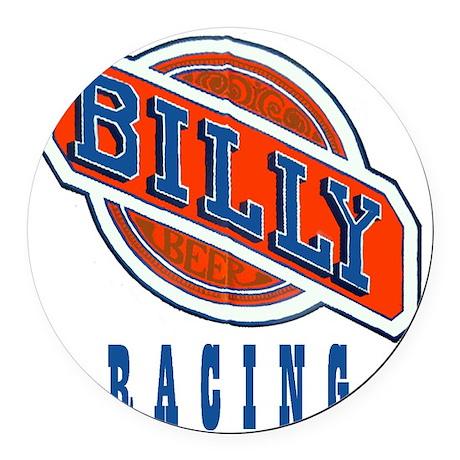 Billy Racing Logo Round Car Magnet
